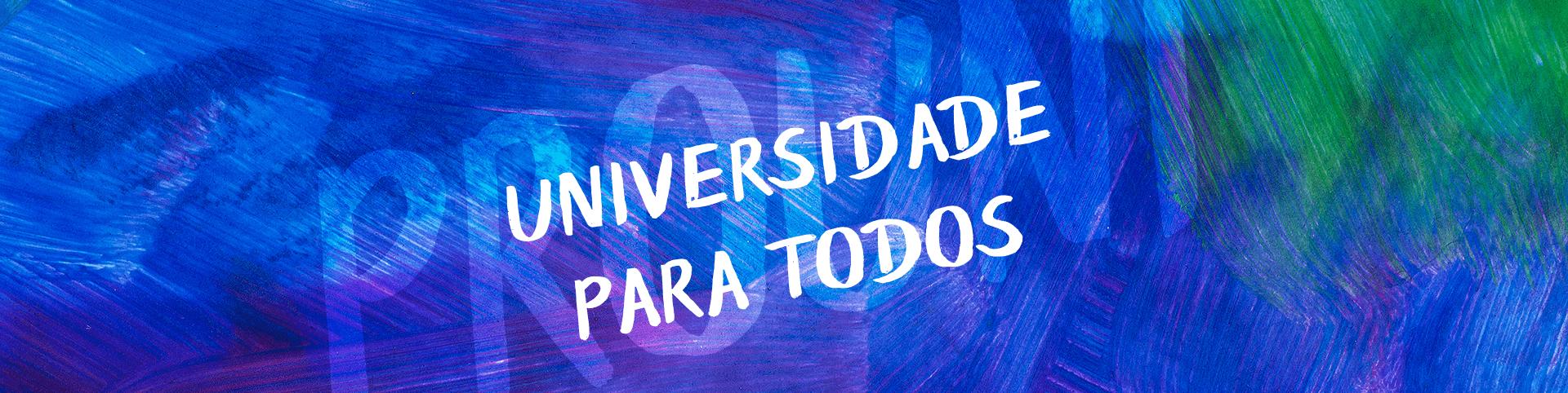 Banner universidade para todos fundo azul