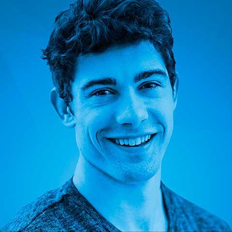 Icone rapaz com fundo Azul